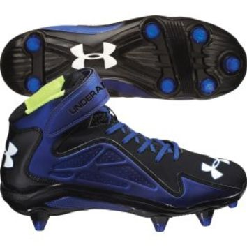 Under Armour Men's Renegade Mid D Football Cleat - Black/Royal | DICK'S Sporting Goods