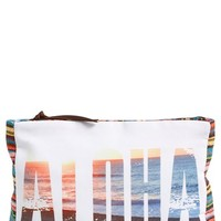 Junior Women's Rip Curl 'Aloha' Canvas Pouch