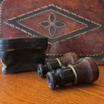 Vintage Opera Glasses Binoculars with Case