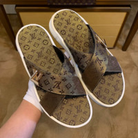 LOUIS VUITTION Leather Slippers