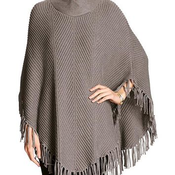 Banana Republic Womens Factory Fringe Trim Cape
