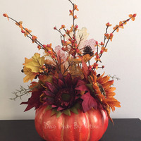 Fall Floral Arrangement - Fall Arrangement - Autumn Floral Arrangement - Thanksgiving Decor - Fall Centerpiece - Fall Decor - Autumn Decor
