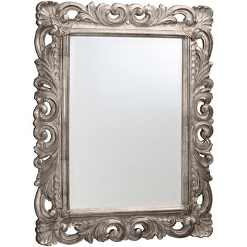 "Round Wood Mirror CP Decorated Frame for Bathroom Vanity, Bedroom, 30.7"" X 38.6"""
