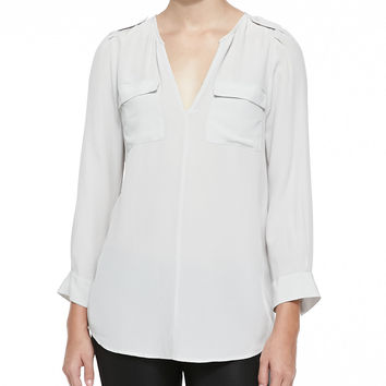 Women's Marlo Front-Pocket Blouse - Joie - Stormy night