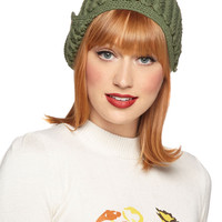 Tulle Clothing Stage Door Hat in Sage | Mod Retro Vintage Hats | ModCloth.com