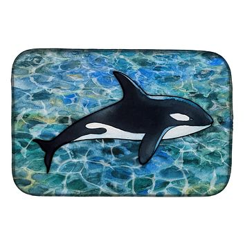 Killer Whale Orca Dish Drying Mat BB5348DDM