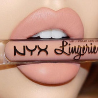12 Colors NYX Lip Lingerie Liquid Long Lasting Lipstick Makeup Cosmetic Lip Gloss