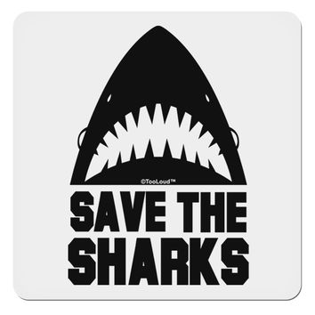 "Save The Sharks 4x4"" Square Sticker"