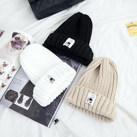 Cartoon Patched Beanie - I know you wanna kiss me. Thank you for visiting CHUU.