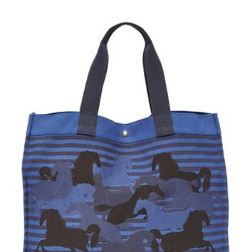 Hermes Canvas Horse Tote (Previously Owned)