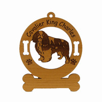 2086 Cavalier King Charles Standing Ornament Personalized with Your Dog's Name