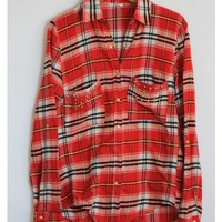 Studded Red Flannel