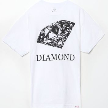 Diamond Supply Co Drawn Diamond T-Shirt - Mens Tee - White