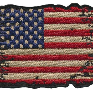 """Battle Tested """"USA"""" Flag Embroidered Patch"""