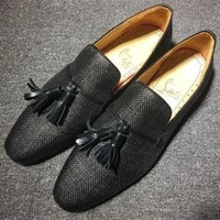 DCCK Cl Christian Louboutin Loafer Style #2380 Sneakers Fashion Shoes