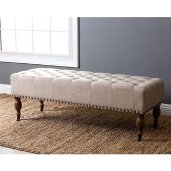 ABBYSON LIVING French Vintage Wheat Linen Rectangle Ottoman Bench - 19196020 - Overstock.com Shopping - Great Deals on Abbyson Living Ottomans
