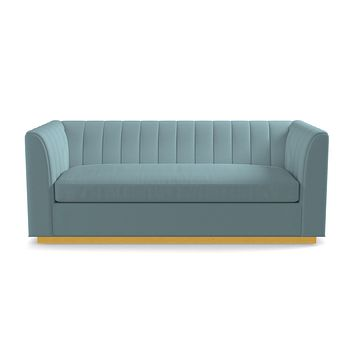 Nora Queen Size Sleeper Sofa From Kyle Schuneman :: Leg Finish: Natural / Sleeper Option: Deluxe Innerspring Mattress
