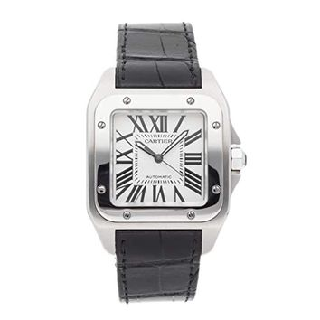 Cartier Santos Mechanical (Automatic) Silver Dial Mens Watch W20073X8 (Certified Pre-Owned)