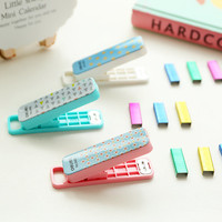 Kawaii Geometric Pattern Staplers with Colored Staples