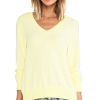 Wildfox Couture Basic V-neck in Yellow