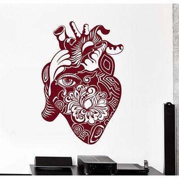 Vinyl Wall Decal Heart Flower Eye Art House Interior Stickers Unique Gift (ig4229)