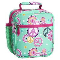 Gear-Up Mint Peace Paisley Classic Lunch With Mesh Side Pocket