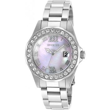 Invicta Women's 20388 Sea Base Quartz 3 Hand Pink Dial Watch