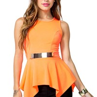 Sunstruck Plated Peplum Top