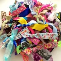 50 Assorted Hair Tie Ponytail Holder Collection by Elastic Hair Bandz