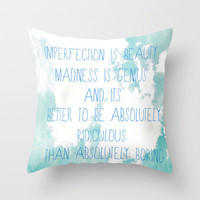 Imperfection Throw Pillow by Rachel Burbee | Society6