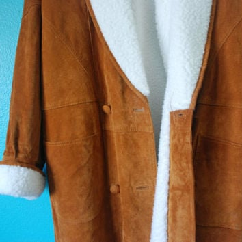 Vintage 90's Atlantic Beach Leather Coat Works