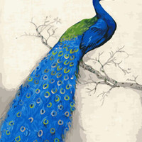 Peacock Frameless Pictures Painting By Numbers DIY Digital Canvas Oil Painting Europe Home Decoration Wall Art G455