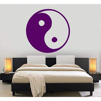 Vinyl Wall Decal Yin Yang Symbol Asian Decor Room Design Stickers Mural Unique Gift (147ig)