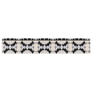 "Victoria Krupp ""Nordic Ice"" Black Pastel Digital Table Runner"
