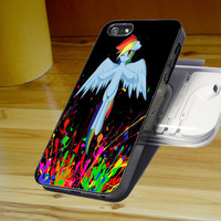 rainbow dash splatter wallpaper for iPhone 4/4S/5/5S/5C, Samsung Galaxy S3/S4, iPod Touch 4/5, htc One X/x+/S Case