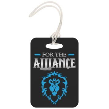 """World of Warcraft """"For the Alliance"""" Metal Luggage Tag"""