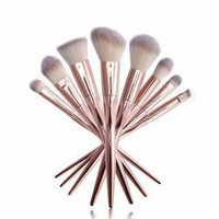 Luxury Rose Gold and Gray Makeup Brush Set