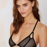 Nasty Gal Mesh With Your Mind Bra