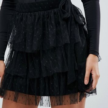 Lioness Layered Mini Tulle Skirt at asos.com