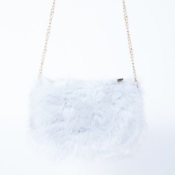 On the Go Fur Crossbody Pouch