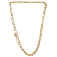 AKIRA Long Layered Necklace - Gold