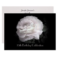 75th Birthday Party Invitation Pale Pink Rose