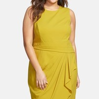 Plus Size Women's Calvin Klein Ruffle Front Sheath Dress,