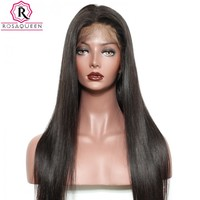 250% Density Human Hair Wig For Black Women Brazilian Silk Straight Lace Front Human Hair Wigs
