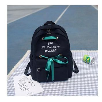 University College Backpack Brand New letter print Women 2018 s Canvas  Girls Rucksack School s for  Student Mochila FemininaAT_63_4