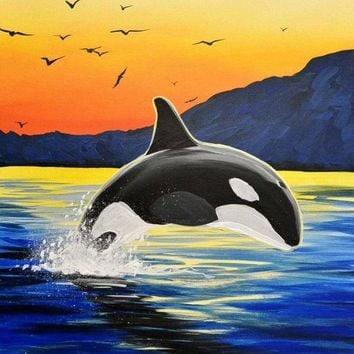 5D Diamond Painting Orca Sunset Kit