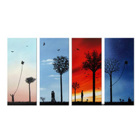 Capturing the Joys of Life Canvas Wall Art Landscape Oil Painting