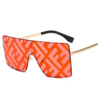 Free Shipping-Fendi Double F Letter Watermark Coating Joker Sunglasses