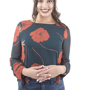 Women's cupcakes and cashmere Floral Printed Blouse