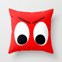 I is Mad Throw Pillow by Alice Gosling